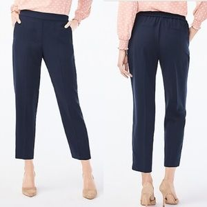 J Crew Navy Blue Ankle High Rise Jamie Pants sz 10